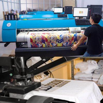 Phương pháp in chuyển nhiệt công ty in vải Hoàng Anh: